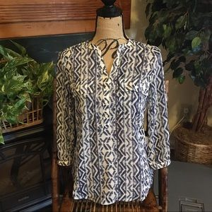 Lucky Brand Live in Love Women's XS Blouse